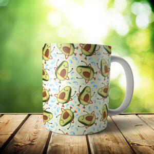 Avocado Mug – Custom Dog Mom Gift / Dog Dad Gift – 11 & 15 oz – Avocado Lover Coffee Cup