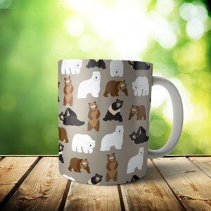 Bears Mug – Custom Dog Mom Gift / Dog Dad Gift – 11 & 15 oz – Bear Lover Coffee Cup