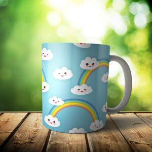 il fullxfull.2062579522 21t4 300x300 - Cloud Rainbow Mug - Custom Sky Gift - 11 & 15 oz - Kawaii cute Lover Coffee Cup