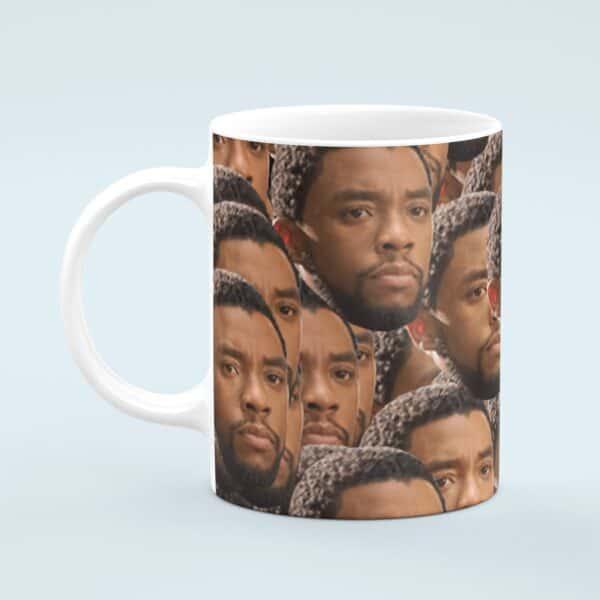 Chadwick Boseman Mug – Custom Celebrity Gift – 11 & 15 oz – Black Panther Lover Coffee Cup