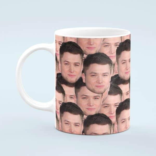 Taron Egerton Mug – Custom Celebrity Gift – 11 & 15 oz -Taron Egerton Fan Coffee Cup