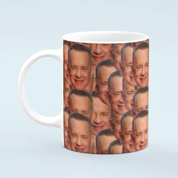 Tom Hanks Mug – Custom Celebrity Gift – 11 & 15 oz – Tom Hanks Fan Coffee Cup