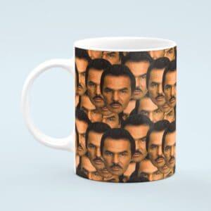 Burt Reynolds Mug – Custom Celebrity Gift – 11 & 15 oz – Burt Reynolds Lover Coffee Cup
